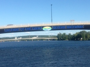 Entering the Trent Severn Waterway