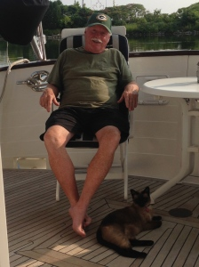 Andy and Pema hanging out on the aft deck