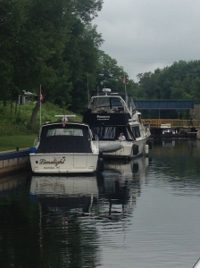 Panacea and Limelight waiting for the lock to open