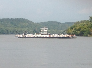 Car ferry on the Illinois River