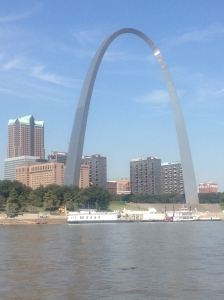 The Arch in St. Louis - it's pretty big close up!