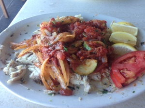 Fresh Red Snapper ala Plaka!