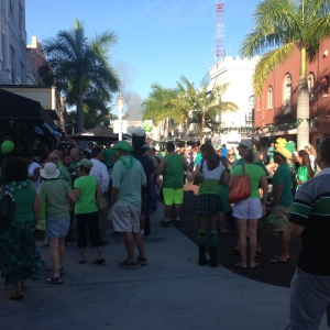 St. Patty's Day in downtown Fort Meyers