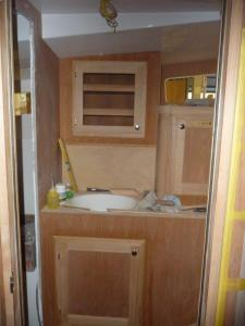 Master head cabinets and sink