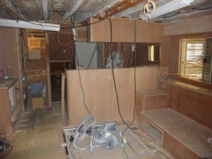 Saloon looking towards the galley