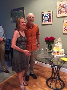 Celebrating 50 years with friends Fran and Barry Lazarus