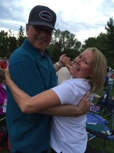 Dancing with John Goetz (Mark's brother-in-law)