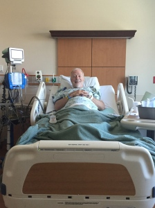 Mark after his hip surgery (on drugs and happy)