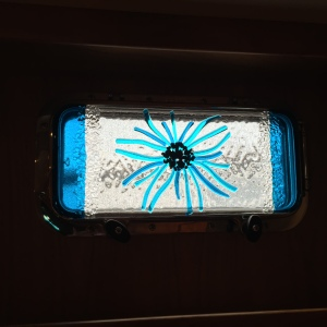"Fused Glass Overlay - it's ""an abstract sea anenome"" of course!"