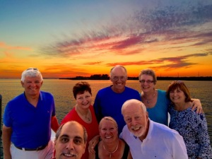 Friends from Gratitude and Tapestry enjoying a spectacular sunset!