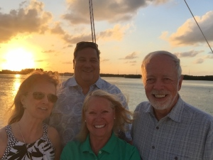 Colorado friends enjoying a Marathon Key sunset!