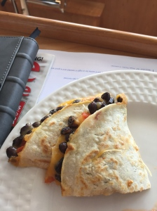 Black Bean Quesadillas for lunch during our crossing.