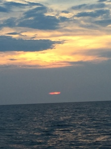 Our sunset on the Atlantic Ocean this night.