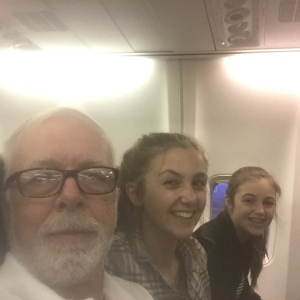 Papa, Ellie and Anna on their way to Annapolis