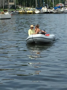 Dinghy driving lessons!