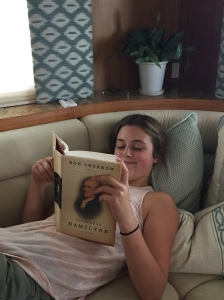 My favorite book! Alexander Hamilton (Anna is obsessed with him)