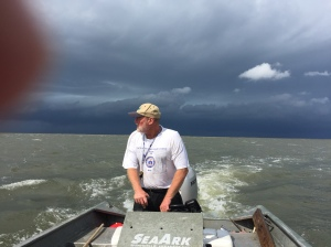 There's a storm coming in - get off the water fast!